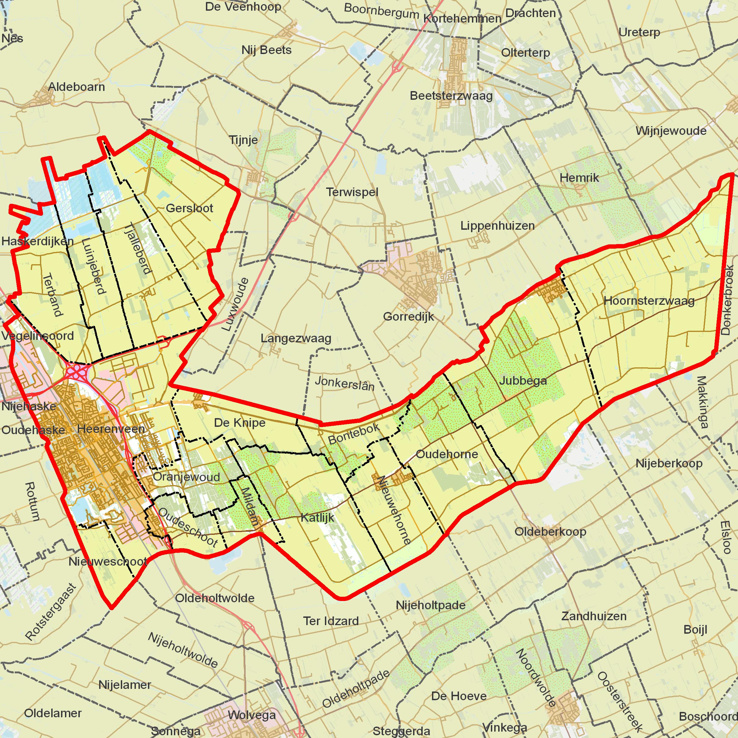 BAG_woonplaatsen_-_Gemeente_Heerenveen