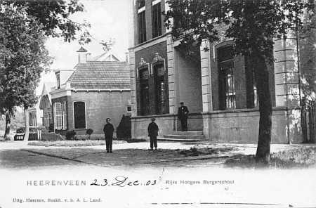 Heerenveen Rijks Hogere Burgerschool 1903