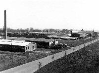 Oudeschoot industrieterrein met Batavusfabriek 1965