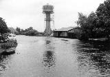 Akkrum watertoren Herstelwerkzaamheden aan de watertoren bij Nes onder Akkrum in de gemeente Utingeradeel 1971